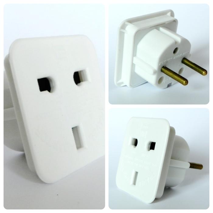 Steckeradapter notwendig für dt. Steckdosen bei Geräten aus UK