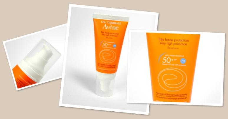 Sonnenschutz für das Gesicht  Teil 3 – Avene Sonnenemulsion SPF50+