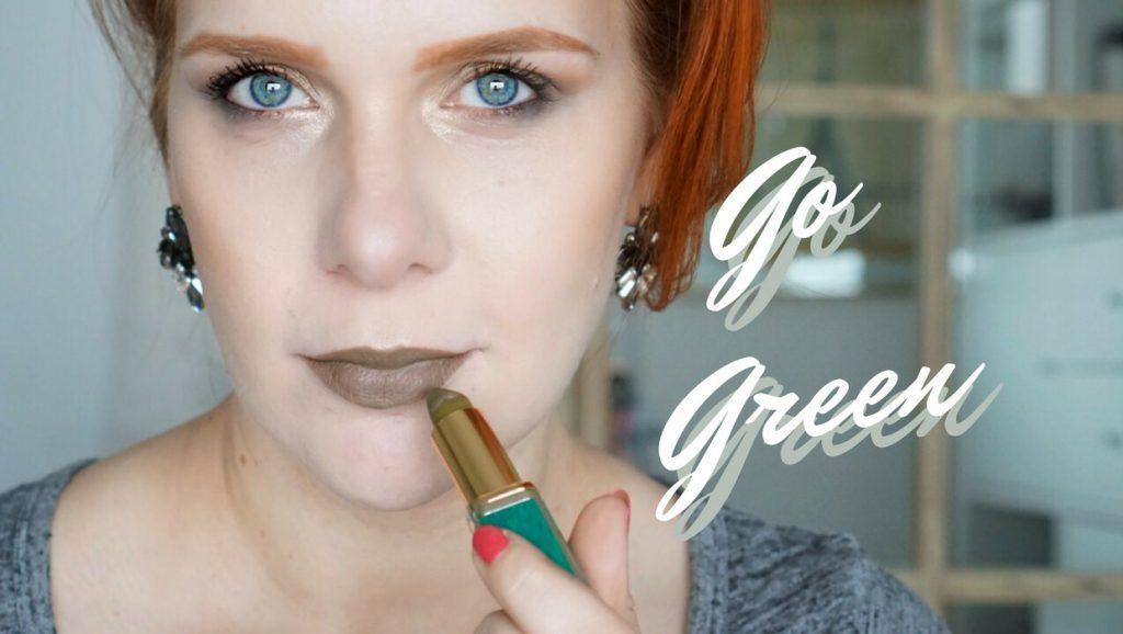 – Go Green – </br> Tragbares, grünes Makeup